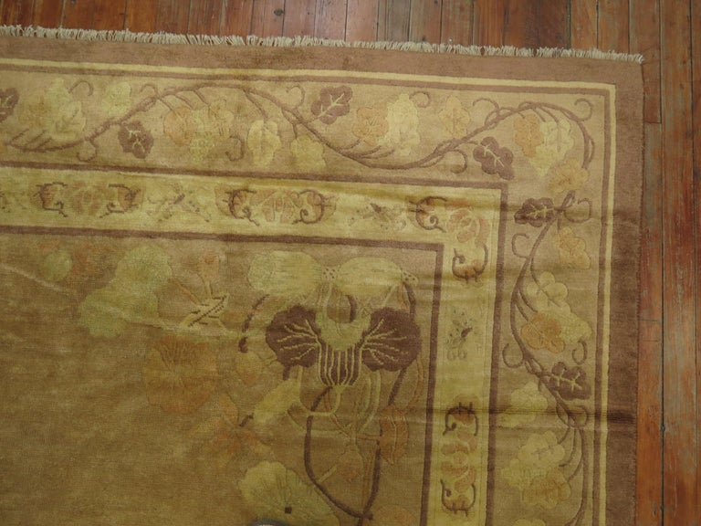 20th Century Pale Antique Chinese Rug For Sale