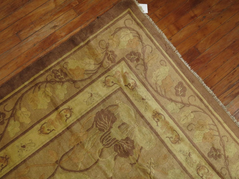 Wool Pale Antique Chinese Rug For Sale