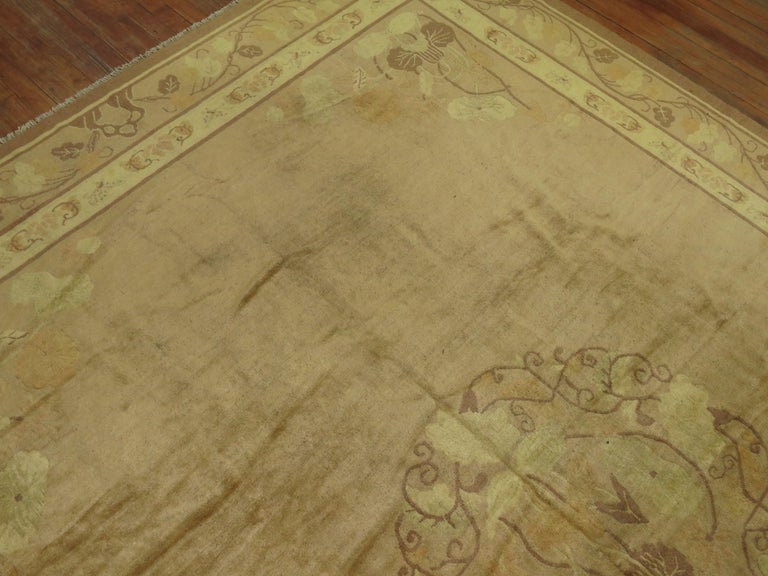 Pale Antique Chinese Rug For Sale 1