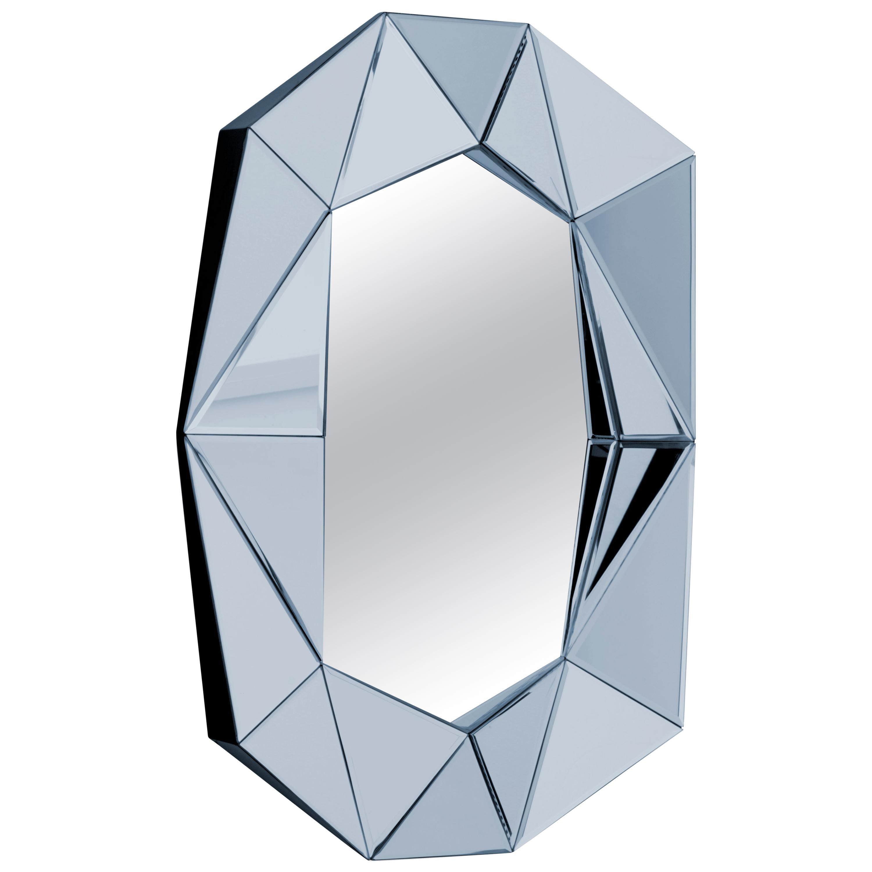 Pale Blue Decorative Mirror
