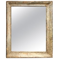 Pale French Green/Cream Frame Mirror