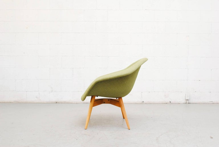 Mid-20th Century Pale Green Bucket Lounge Chair by Miroslav Navrátil for Vertex For Sale