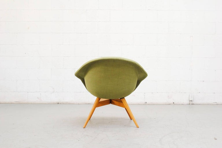 Pale Green Bucket Lounge Chair by Miroslav Navrátil for Vertex For Sale 1