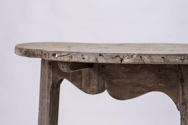 English Pale Oak and Fruitwood Cricket Table For Sale