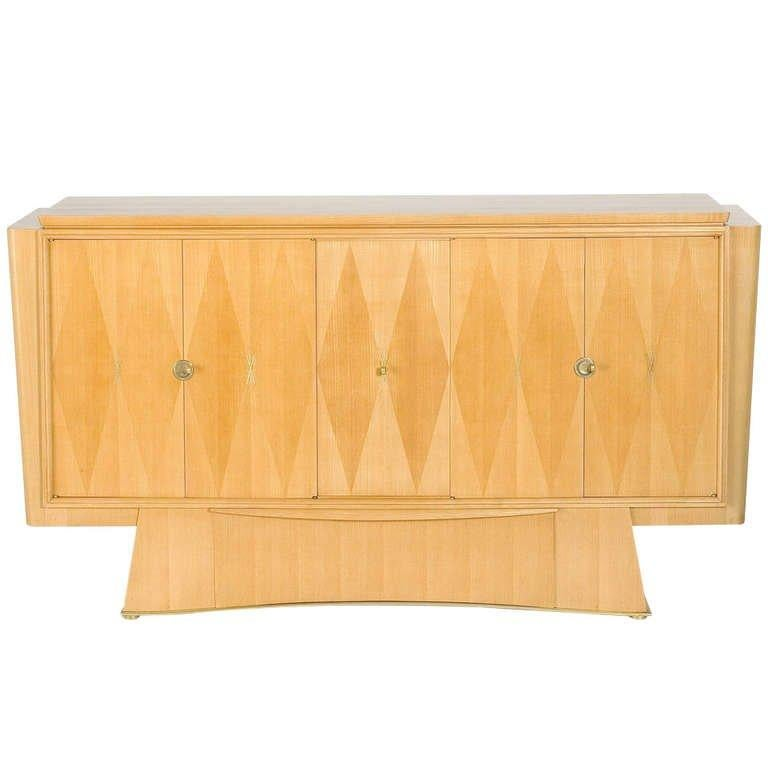 Pale Oak Cabinet, France, C. 1948 In Good Condition For Sale In New York, NY