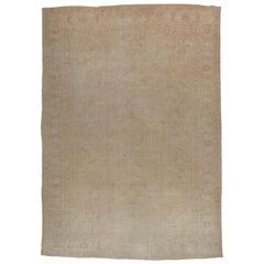 Pale Oversize Turkish Oushak Carpet