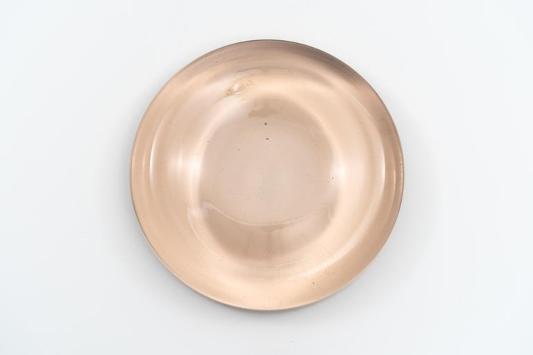 Pale Pink Blown Murano Glass Dish by Charles Pfister for Salviati, circa 1975 For Sale 1