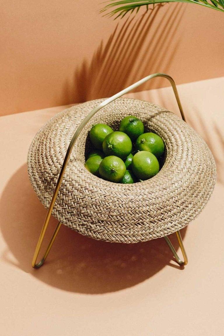 Brass 'Paleae Brasilis' Fruit Tray by Brunno Jahara, Brazilian Contemporary Design For Sale