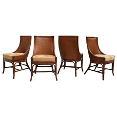 Palecek Grass Cloth French Regency Style Center Dining Table & Chair Set