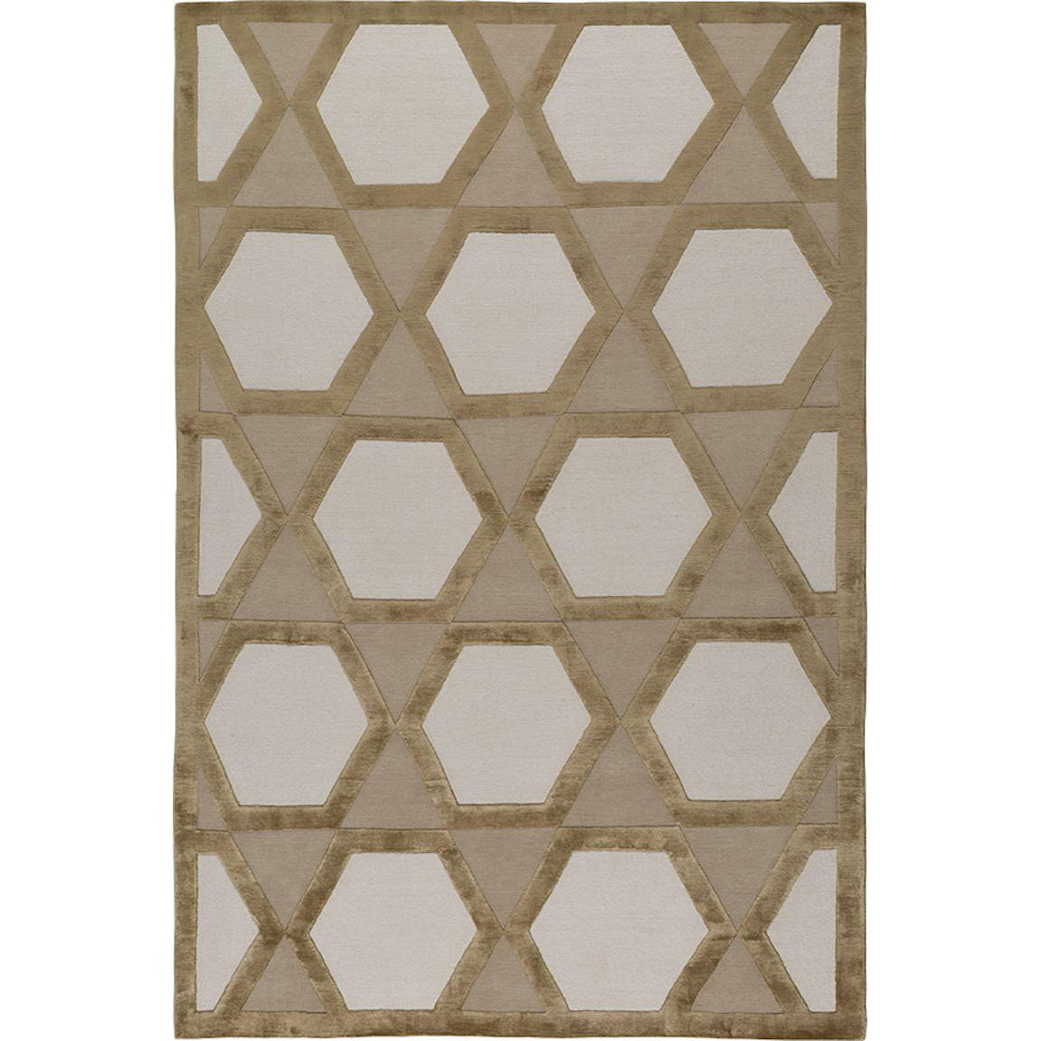 Palermo Hand-Knotted 10x8 Rug in Wool and Silk by Suzanne Sharp