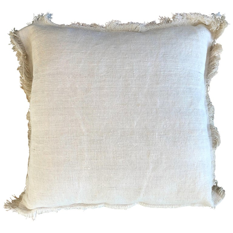 """""""Palermo"""" Handmade Linen/Cotton Pillow by Le Lampade For Sale"""