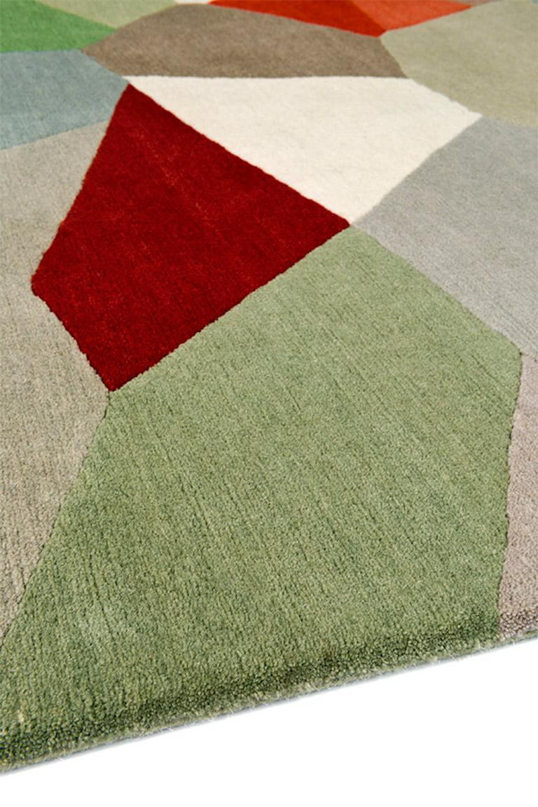 Modern Palette Hand-Knotted 10x8 Rug in Wool by Fiona Curran For Sale