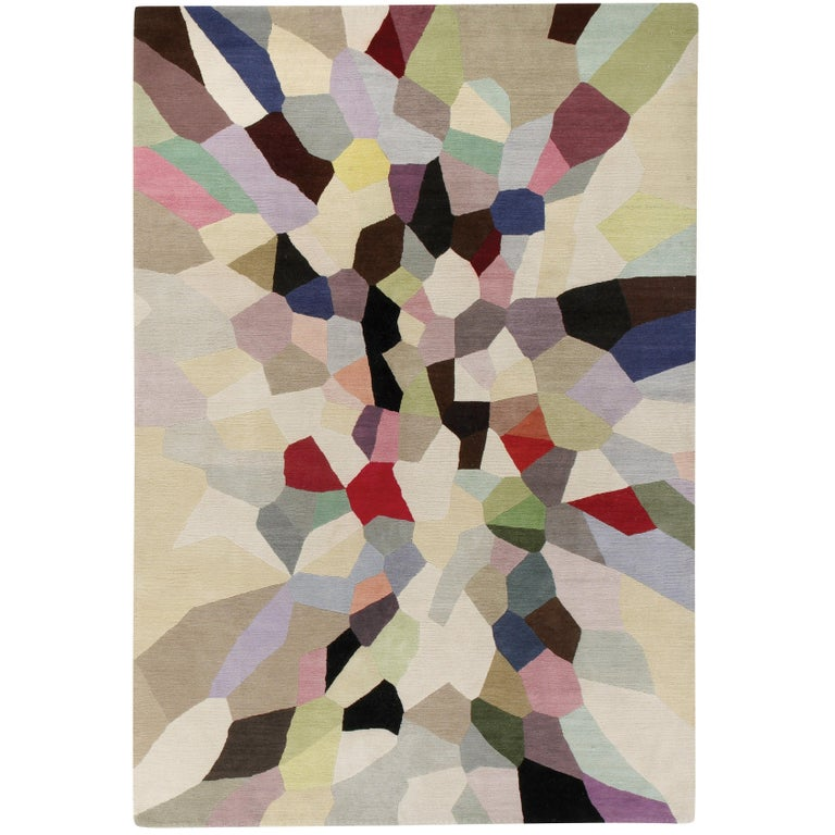 Palette Hand-Knotted 10x8 Rug in Wool by Fiona Curran For Sale
