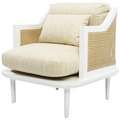 Palisades Accent Chair II in Cloud White & Vanilla by Badgley Mischka Home