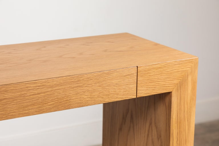 Mid-Century Modern Palisades Console with Metal Inset Base by Lawson-Fenning For Sale