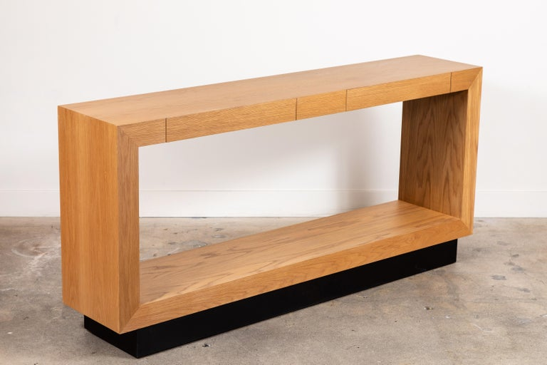 Palisades Console with Metal Inset Base by Lawson-Fenning For Sale 1