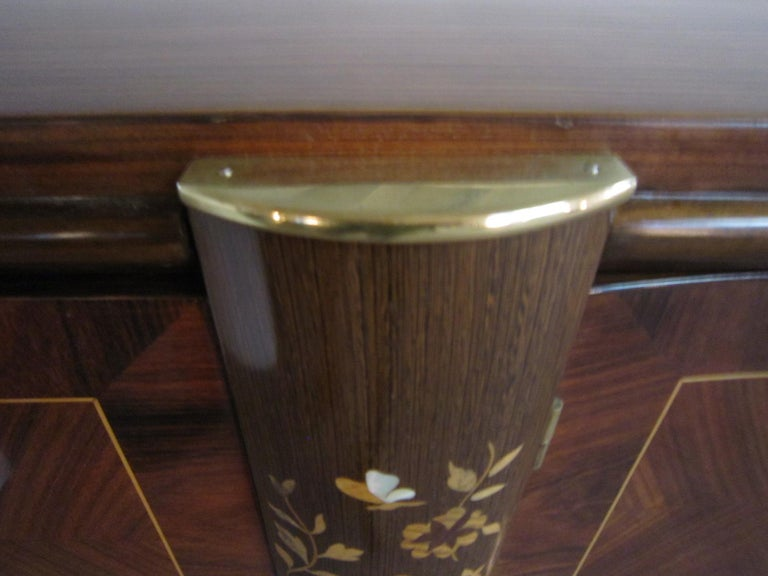 Palisander Art Deco Cabinet with Exotic Inlay, Jules Leleu For Sale 4