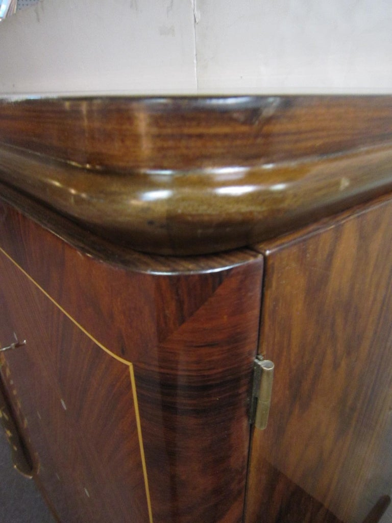 Palisander Art Deco Cabinet with Exotic Inlay, Jules Leleu For Sale 6