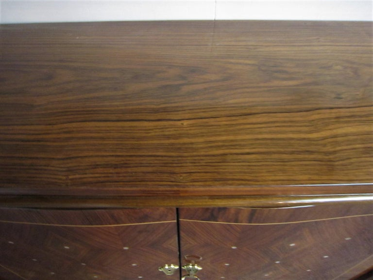 Palisander Art Deco Cabinet with Exotic Inlay, Jules Leleu For Sale 8