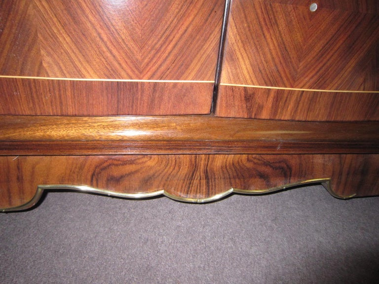 Palisander Art Deco Cabinet with Exotic Inlay, Jules Leleu For Sale 3