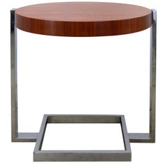 La Spada & Mazza for Medea, Side Table in Palisander Wood and Chrome  Italy