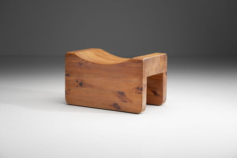 """Wood """"Pall"""" Stool by K. J. Pettersson & Söner, Sweden, 1970s For Sale"""