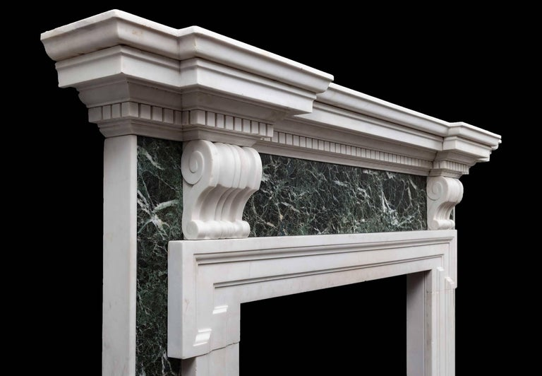 English Palladian Marble Fireplace For Sale