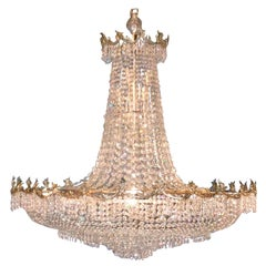 Palladian Silver Plated Chandelier from Perino's Restaurant, Los Angeles