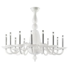 Palladiano 5600 12 Chandelier in Glass, by Barovier&Toso