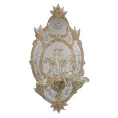 Palladio 3-Light Murano Glass Wall Lamp