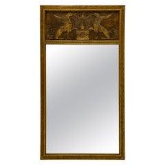 Palladio! Italian Neoclassical Style Giltwood Trumeau Mirror
