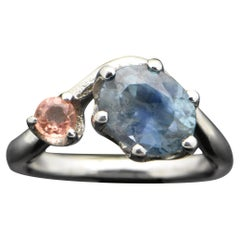 Palladium Sapphire Ring