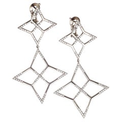 "Palladium & White Diamonds Earrings ""Star"""