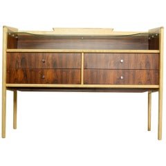 Pallisander and Oak Vanity Table or Sideboard, 1960s