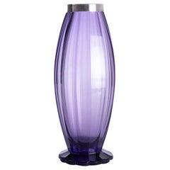 Pallme-Konig Art Deco Vase with Silver Collar, c.1925 - 1930