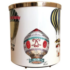 'Palloni' 'Hot Air Balloons' Waste Paper Basket by Fornasetti, Contemporary