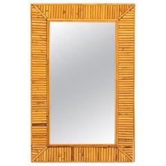 Palm Beach Regency Rattan and Bamboo Rectangular Mirror