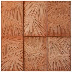 Palm Canvas, Palm Wall Sculpture Set