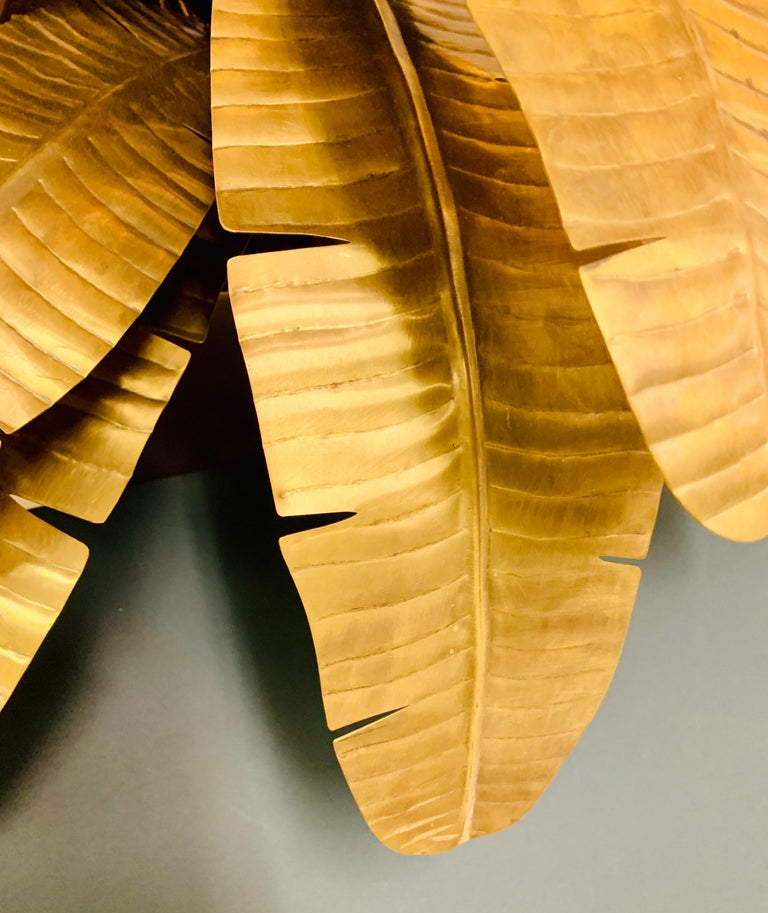 Italian Palm Frond Lamp For Sale