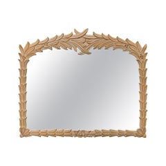 Palm Frond Wall Mirror Attributed to Serge Roche