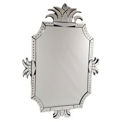 """""""PALM MIRROR"""" Murano Glass Mirror, Antique Reproduction by Fratrelli Tosi"""