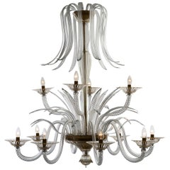 Palm Murano Glass Chandelier and Ceiling Light