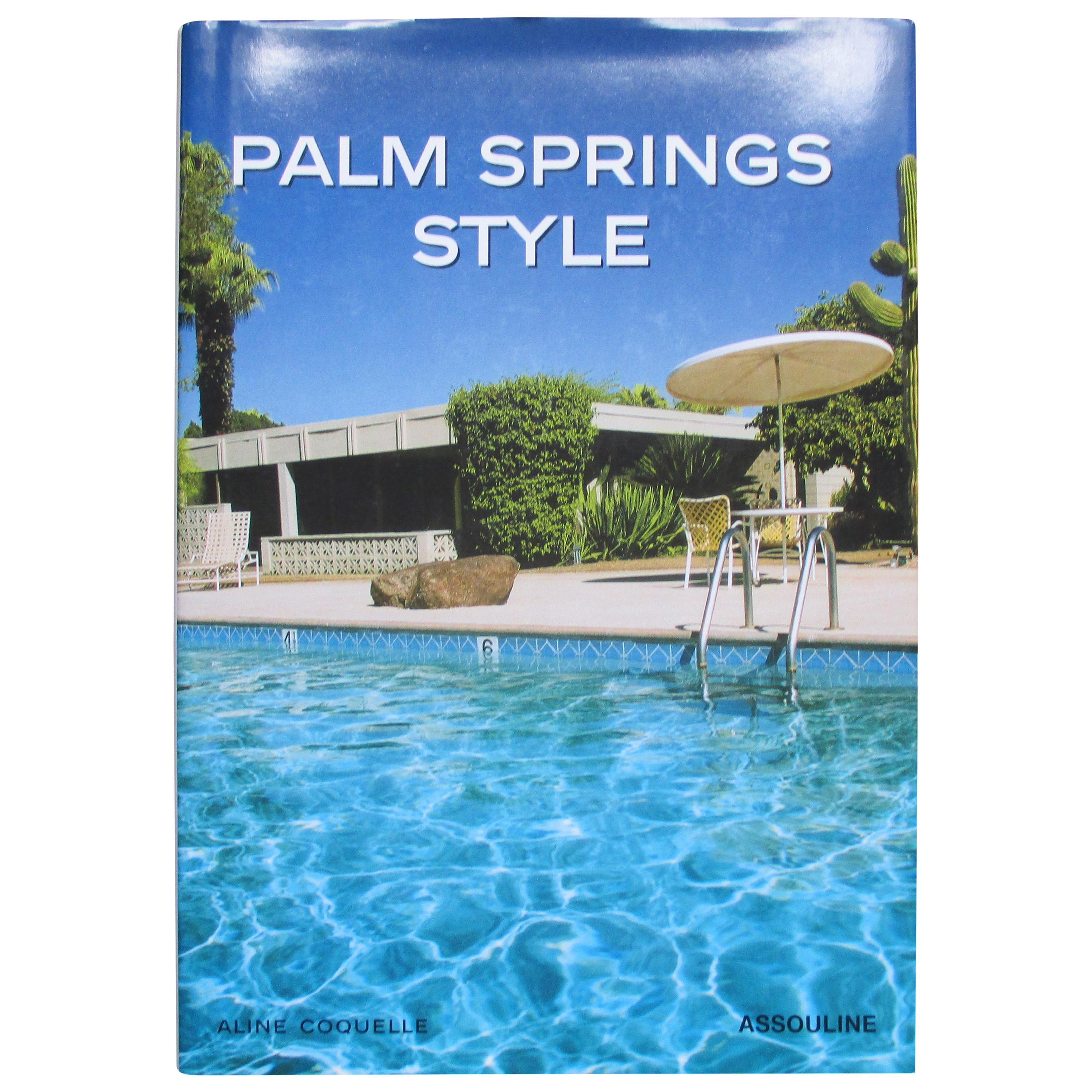 Palm Spring Style Hardcover Decoration Book