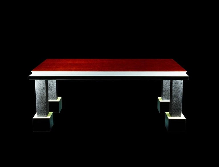Italian Palm Springs Briar Dining Table, by Ettore Sottsass from Memphis Milano For Sale
