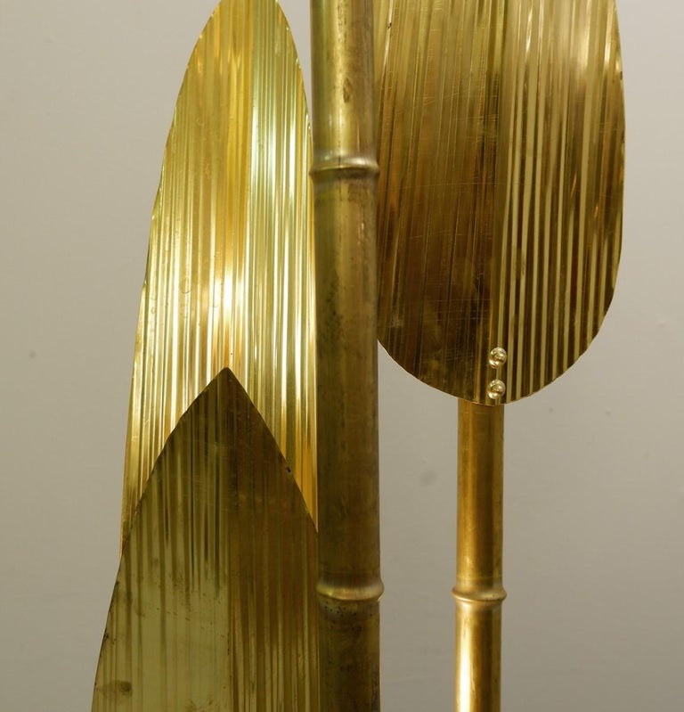 Palm Tree Gold Floor Lamp 2 Pairs Available For Sale At 1stdibs