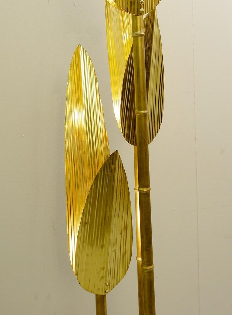Palm tree gold floor lamp - 2 pairs available Price for a pair.