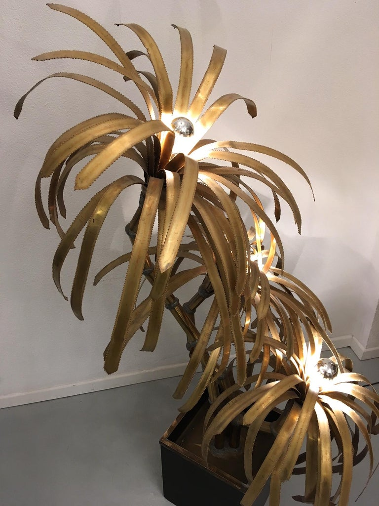 Palm Tree Lamp by Maison Jansen In Good Condition For Sale In Geneva, CH