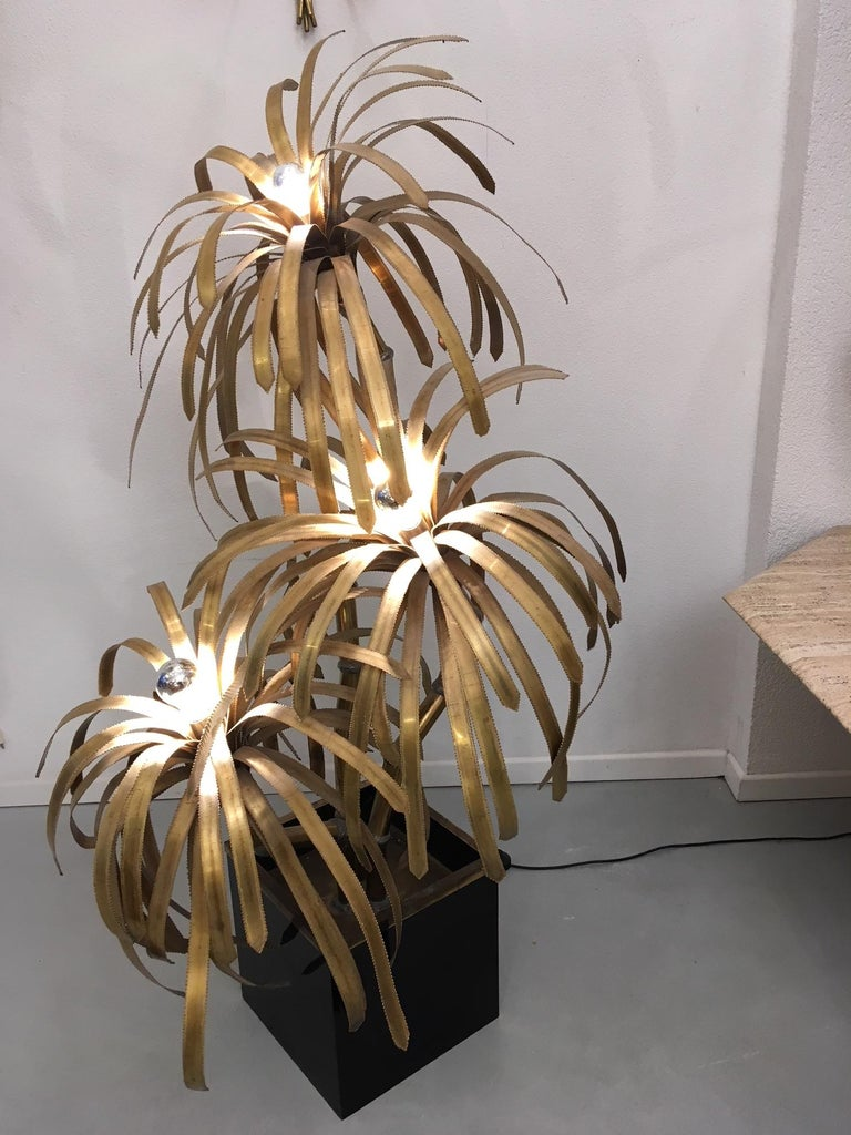 Late 20th Century Palm Tree Lamp by Maison Jansen For Sale