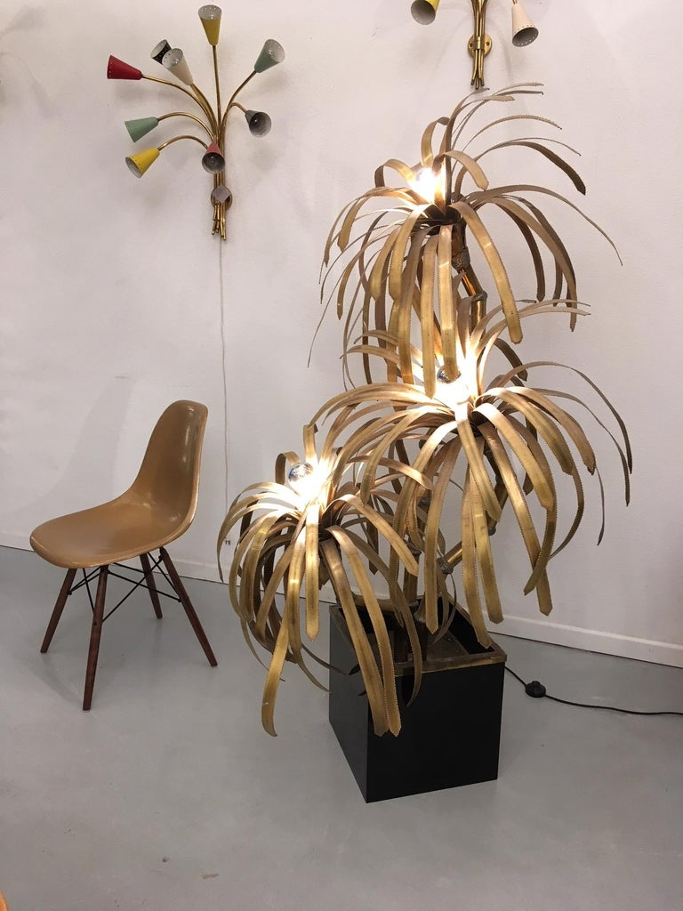 Palm Tree Lamp by Maison Jansen For Sale 1