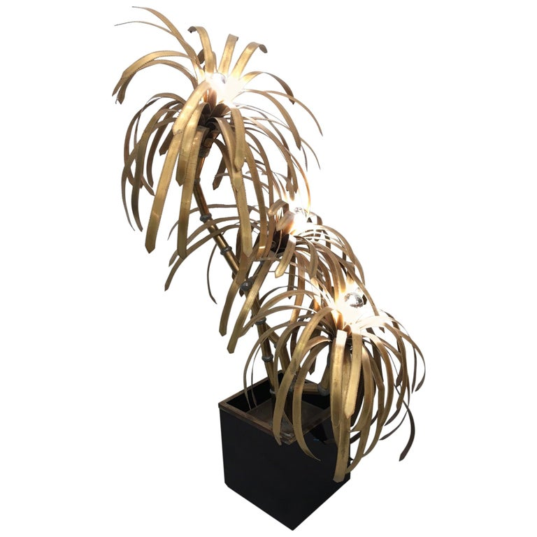 Palm Tree Lamp by Maison Jansen For Sale
